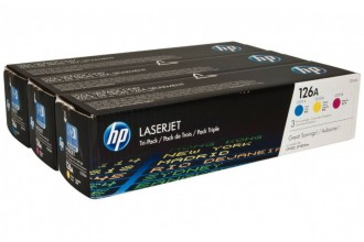 HP TONER CYAN/MAGENTA/YELLOW/126A 3-PACK CF341A
