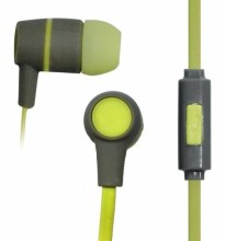 VAKOSS Stereo Earphones Silicone with Microphone / Volume Control SK-214G grey