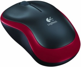 Logitech Wireless Mouse M185 Red