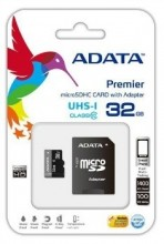ADATA memory card micro SDHC UHS-I 32GB + SDHC Adapter