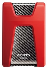 External HDD Adata Durable HD650 1TB USB3 Red, Shock and scratch proof