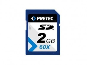 Pretec SecureDigital SD 2GB 60x HighSpeed (transfer up to 9MB/s)