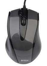 Mouse A4Tech V-TRACK N-500F-1 Glossy Grey USB