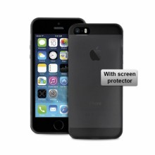 Ultra Slim 0.3 mm cover + SP iPhone 5/5S/SE black