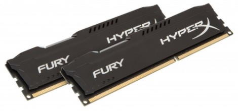 Kingston 16GB DDR3 PC12800 CL10 DIMM HyperX Fury Black Series KIT OF 2 HX316C10FBK2/16