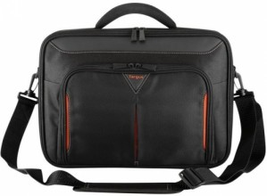 Targus 15 - 15.6 inch / 38.1 - 39.6cm Classic+ Clamshell Case, black and red